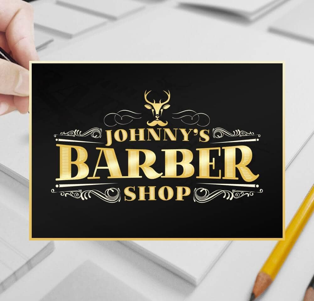 Johnny's Barber Shop johnnys brainstorm design | branding, graphic & website design limerick