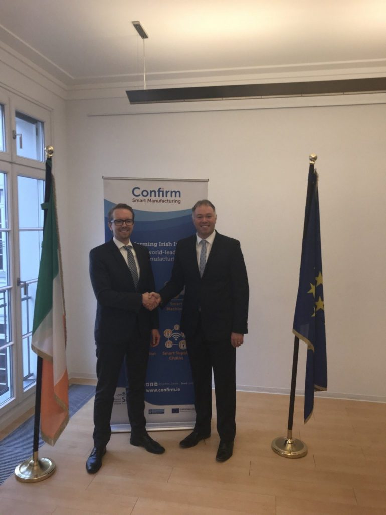 CONFIRM signs Memorandum of Understanding (MoU) with Fraunhofer IFF Germany